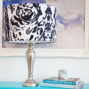 Marble Silk Drum Lampshade - furnishings & fittings