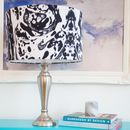 Marble Silk Drum Lampshade
