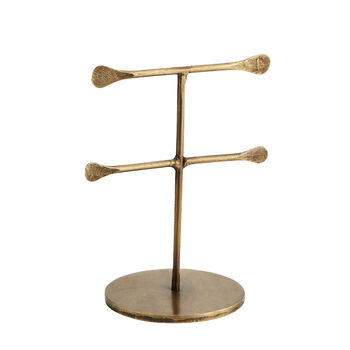 Hand Forged Antique Gold Jewellery Stand