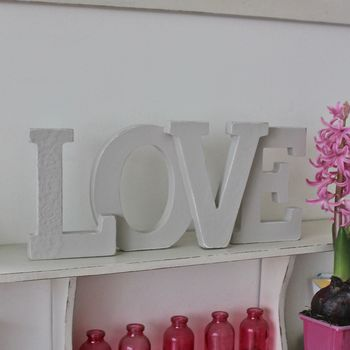 'Love' Wooden Decoration ~ Large