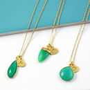 Green And Gold Gemstone Necklace Collection