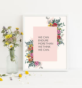 Endure Inspirational Print