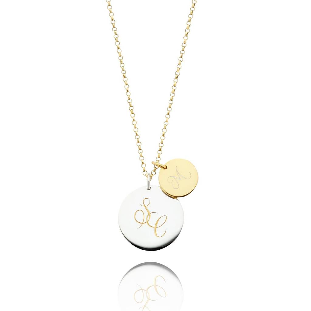 Entwined initials necklace by harry rocks notonthehighstreet entwined initials necklace mozeypictures Image collections