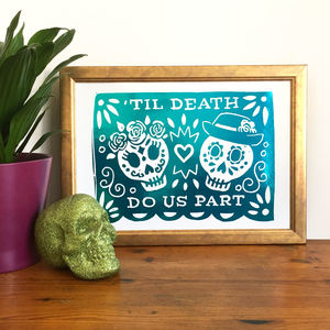 Day Of The Dead Foil Print