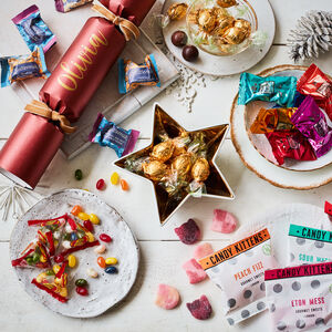 Luxury Personalised Christmas Cracker: Family Treats
