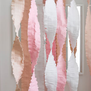 Pastel Oversized Party Streamers - simple 60s wedding styling