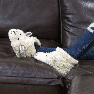 Sherry Sheep Adult Felt Slippers - slippers