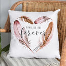 Personalised Watercolour Feather Cushion