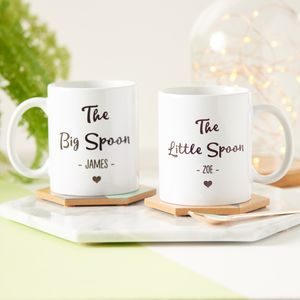 Big Spoon, Little Spoon Personalised Mug Set - mugs