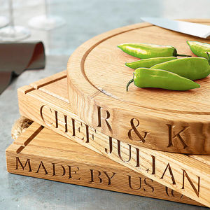Personalised Oak Chopping Board - 50th birthday gifts