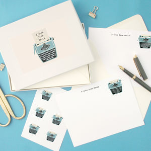 Personalised Typewriter Writing Set