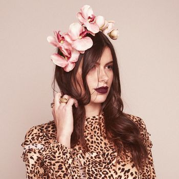Delaney Pink Orchid Crown Headband