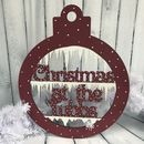 Giant Personalised Glitter Bauble