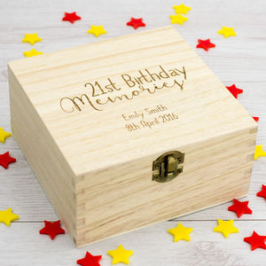 Personalised 21st Birthday Keepsake Box