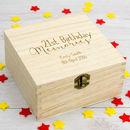 Personalised 21st Birthday Keepsake Box
