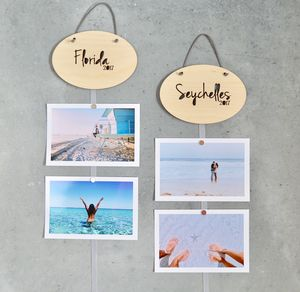 Holiday Destination Photo Frame Hanger - picture frames