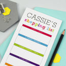 Personalised Colourful Shopping List Notepad