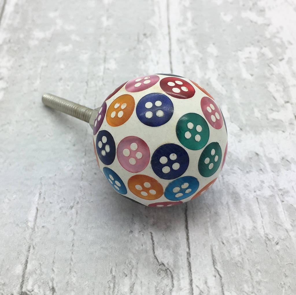 colourful button resin cupboard bedroom door knobs by g decor ...