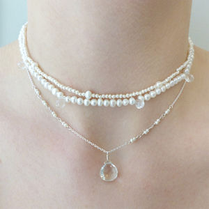 Bridal Pearl Choker - necklaces & pendants