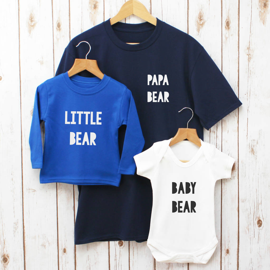 3e2c511c papa bear fathers day family t shirt set by betty bramble ...