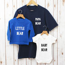 Papa Bear Fathers Day Family T Shirt Set