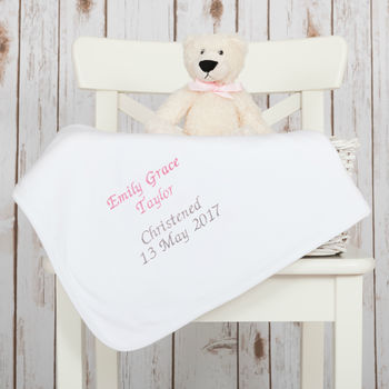Baby Cotton Christening Blanket