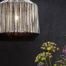 Jute Ceiling Lampshade And Cord