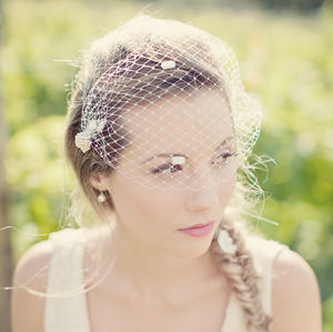 Vintage Jewellery Birdcage Wedding Veil - veils