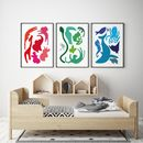Abstract Animal Art Print