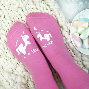 Personalised Team Unicorn Socks