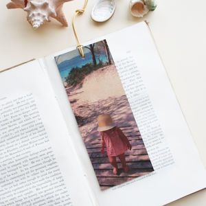 Personalised Cherished Photo Leather Bookmark - gifts for grandfathers