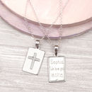 Girls Personalised Sterling Silver Christening Necklace
