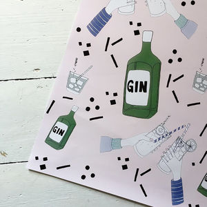 Gin Gift Wrapping Paper - wrapping paper