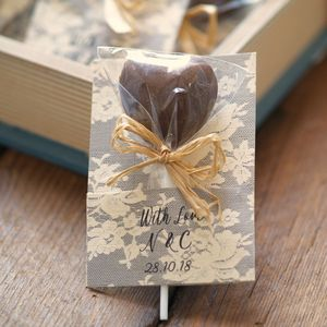 Personalised Heart Lollipops Wedding Favours - edible favours