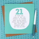 By Your Age… Funny 21st Birthday Card