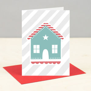 'Gingerbread House' Christmas Card