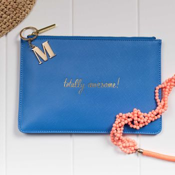 Personalised 'Totally Awesome' Blue Perfect Pouch