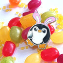 Pengbunny Enamel Penguin Pin Badge With Bunny Ears
