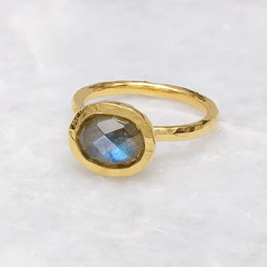 18ct Gold Vermeil Boho Hammered Stack Ring - what's new