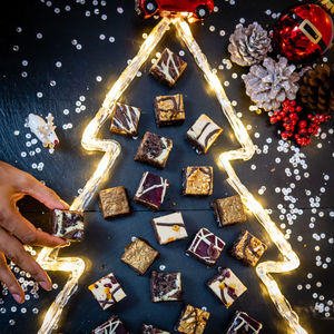 Christmas Gourmet Chocolate Brownies Gift Box