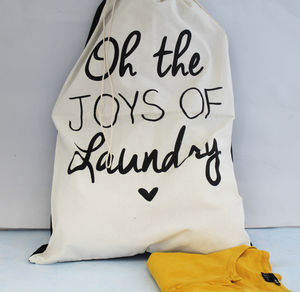 Laundry Quote Laundry Bag - bedroom