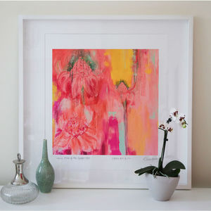'Heat Of The Ginger Lilies' Tropical Art Print