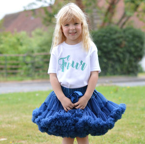 4th Birthday Tutu And Top Outfit