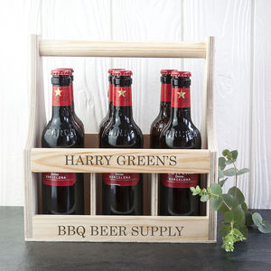 Personalised Wooden Beer Trug - personalised gifts