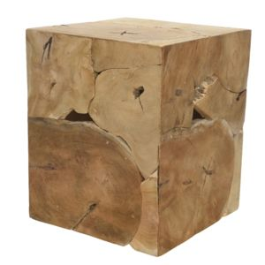 Natural Teak Side Table