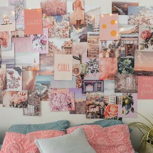 Peachy Pink Collage Kit