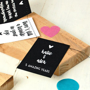 Reason's I Love You Bunting Valentine's Card - anniversary cards