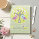 Love Tree Birds Fabric Notebook