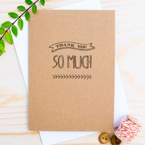'Thank You So Much' Card - view all sale items