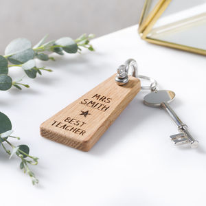 Best Teacher Personalised Keyring - gifts for teachers